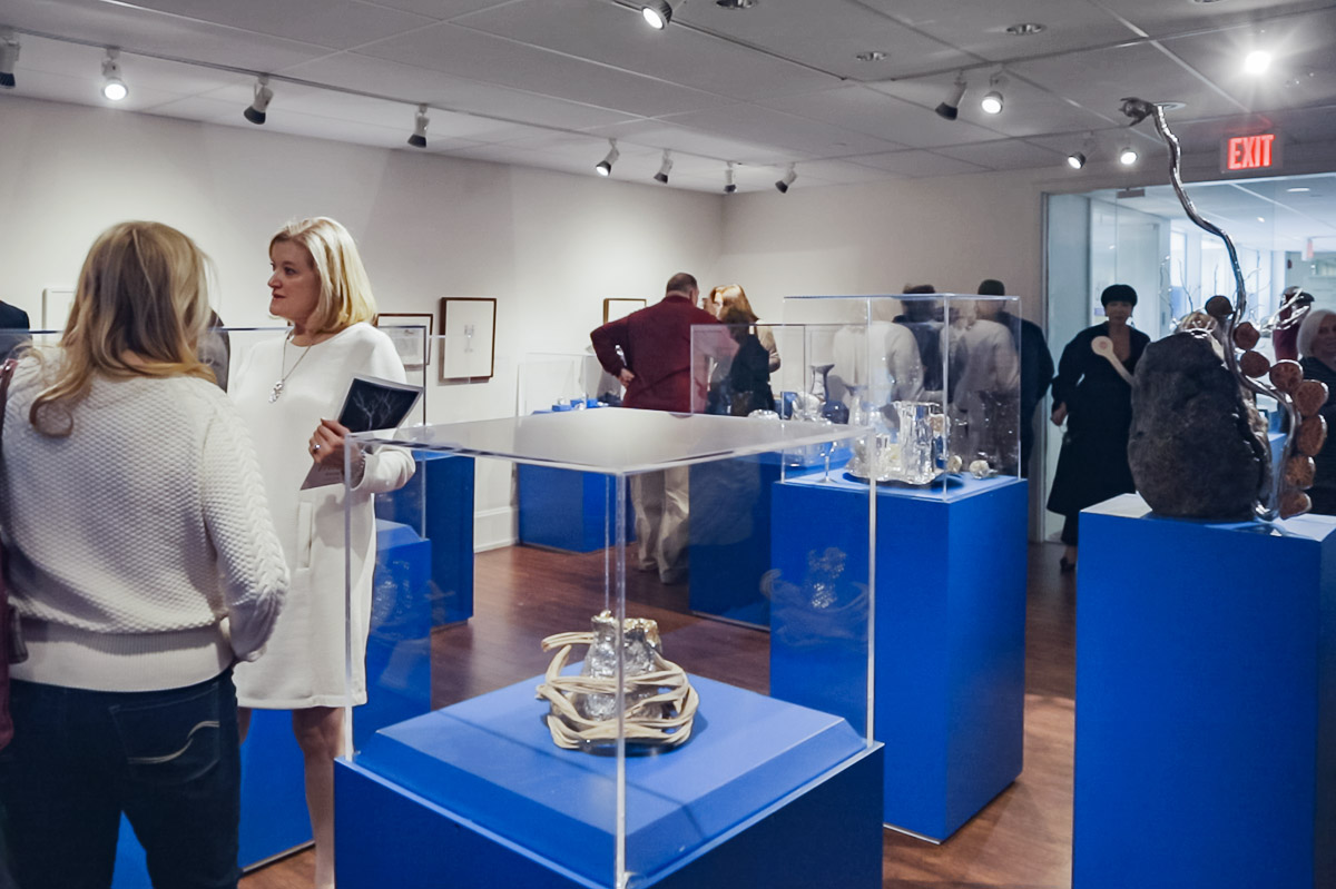 Photo from silver sculptor Michael Galmer's opening reception 'Monumental' at Biggs Museum.