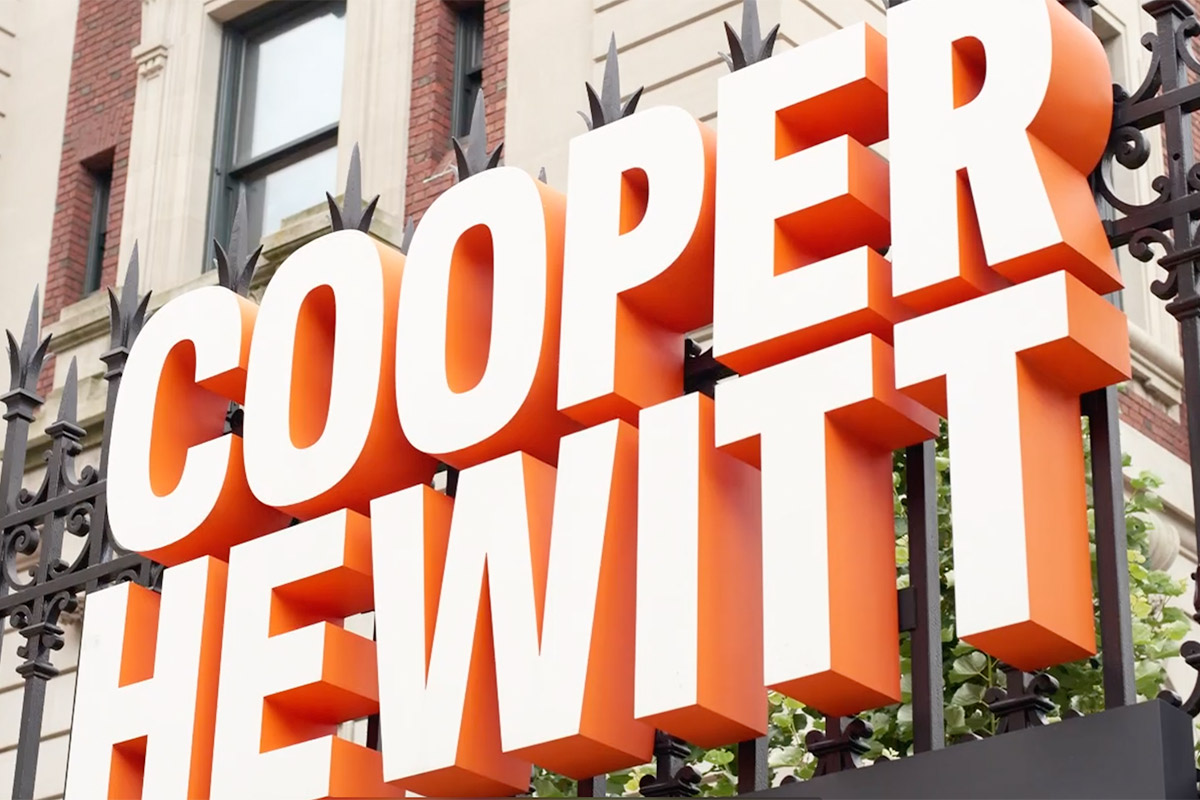 Photo from silver sculpture artist Michael Galmer's opening reception at Cooper Hewitt Museum.