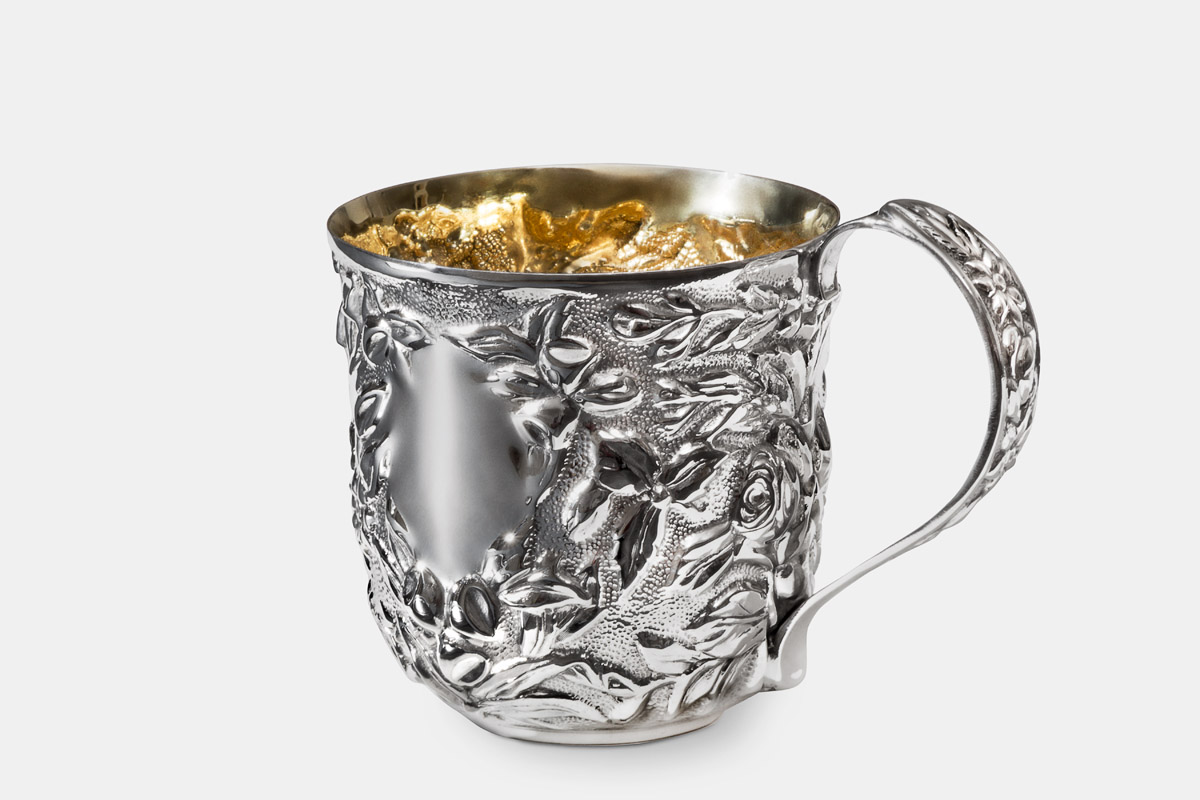 Michael Galmer's sterling silver and 24K gold 'Roses Cup'.