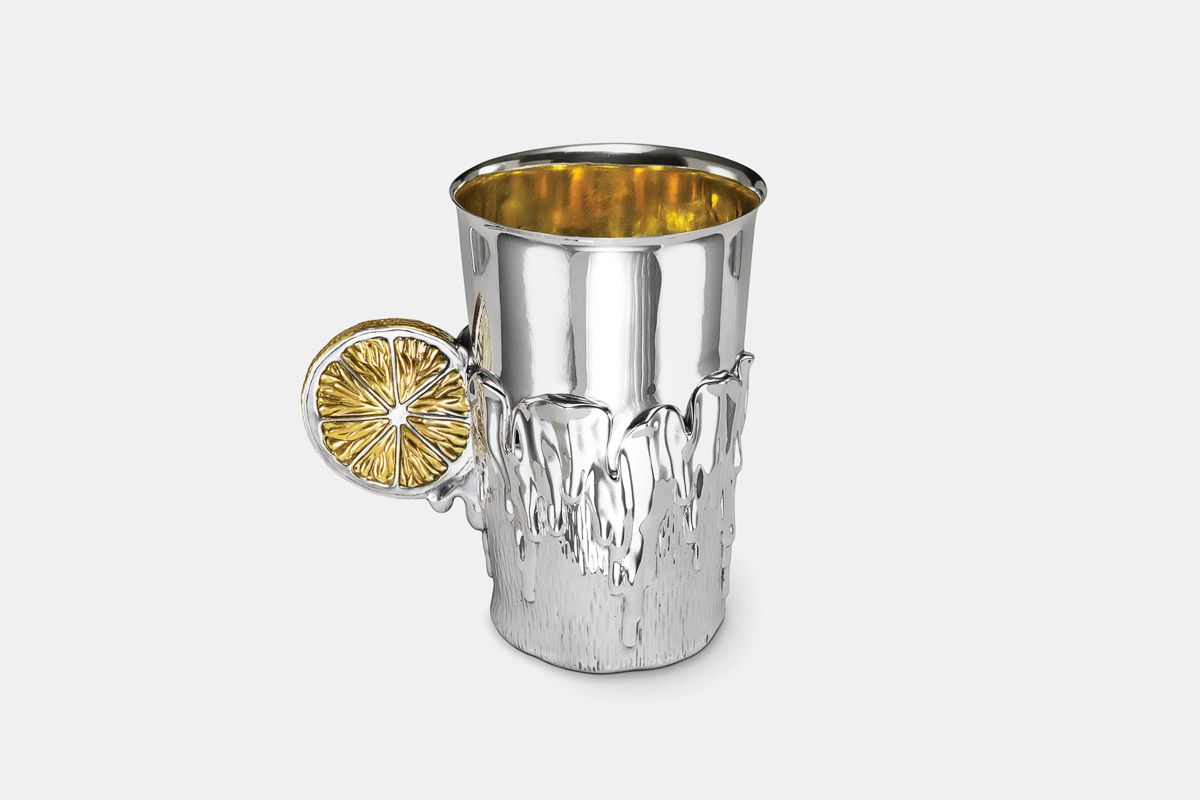 Michael Galmer's sterling silver and 24K gold plated 'Lemon Tumbler'.