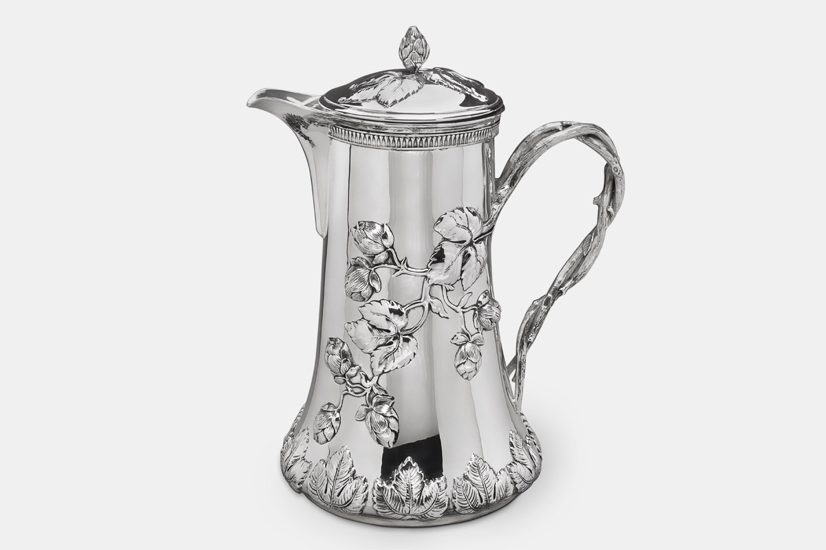 Michael Galmer's sterling silver 'Hops Blossom Pitcher'.